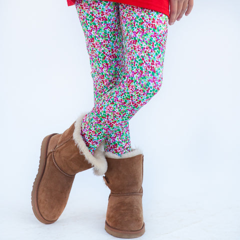 Girls Christmas Dot Arden Leggings