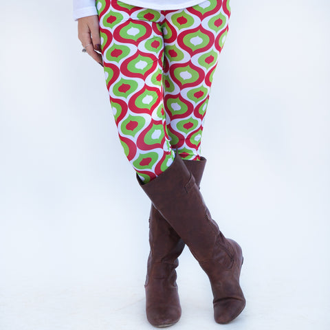 Ladies Christmas Geo Arden Leggings