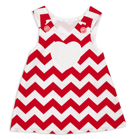 Red Chevron Aline Dress
