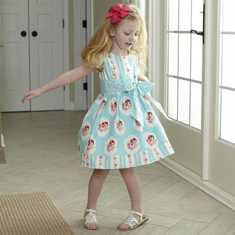 Floral Stripe Ava Sash Dress