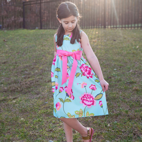Flower Vine Sash Ava Dress