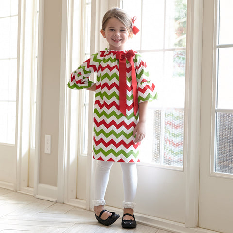 Chevron Charlotte Dress