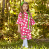 Hot Pink Dot Charlotte Dress