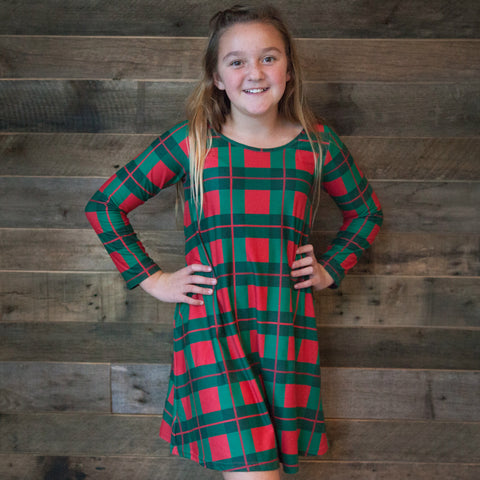 Christmas Plaid Charlee Dress