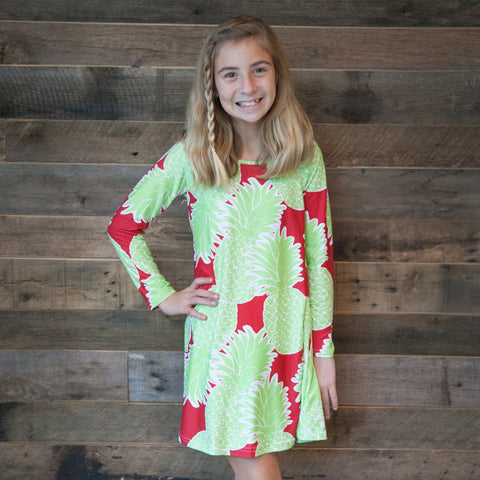Christmas Pineapple Charlee Dress