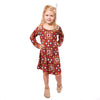 Burgundy Squares Charlee Dress