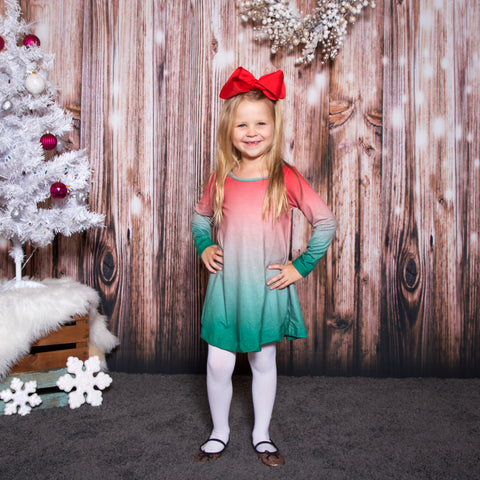 Christmas Ombre Red Charlee Dress
