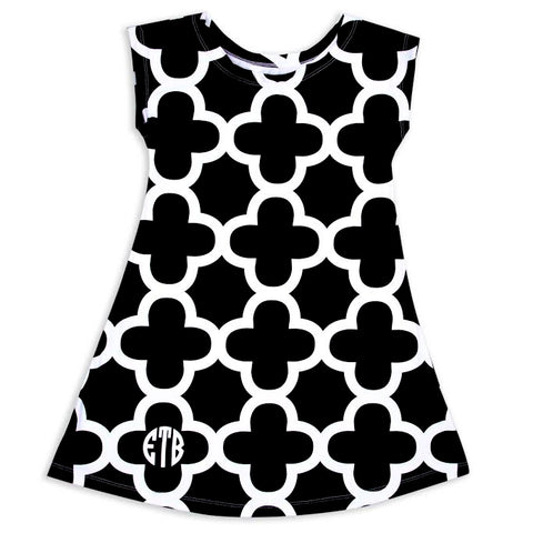 Baby Girl Quatrefoil Eva Dress