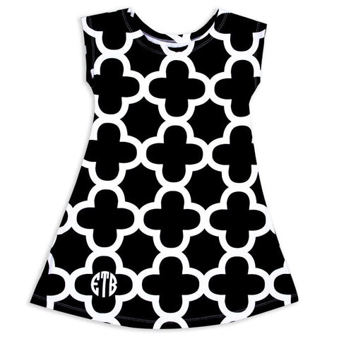 Quatrefoil Eva Dress