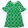 Green Lattice Liv Dress