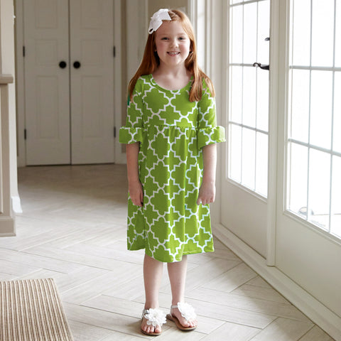 Lime Lattice Liv Dress