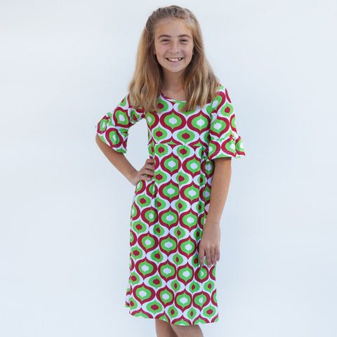 Christmas Geo Liv Dress