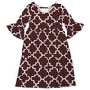 Brown Lattice Liv Dress