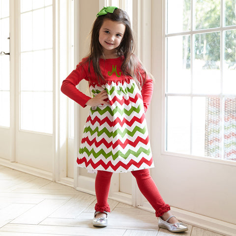 Chevron Empire Dress