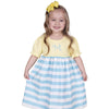 Yellow Aqua Stripe Dress