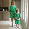 Green Lattice Olivia Dress