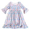Pastel Damask Ruffle Livvy Dress