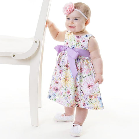 Baby Girls Floral Sash Ava Dress