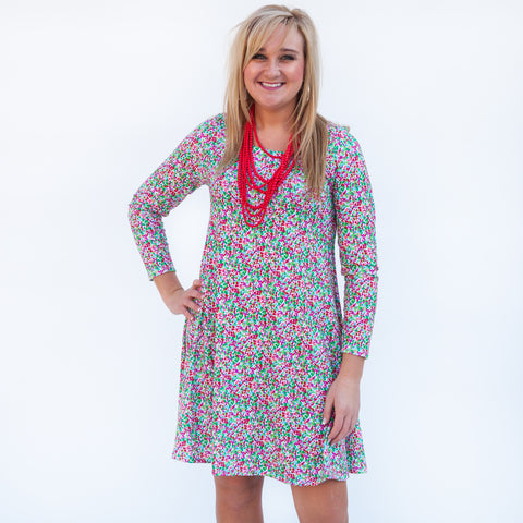 Christmas Dot Aubrey Dress