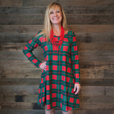 Christmas Plaid Aubrey Dress