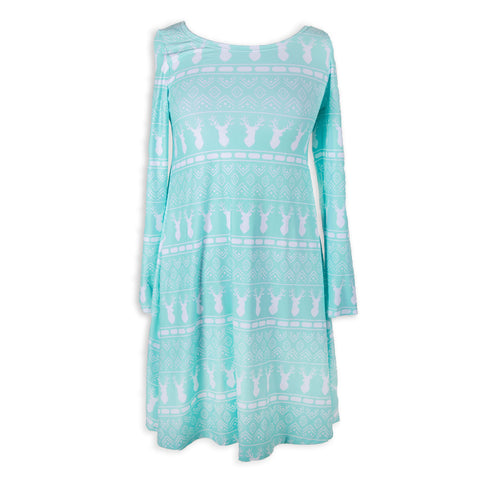 Aztec Deer Aubrey Dress