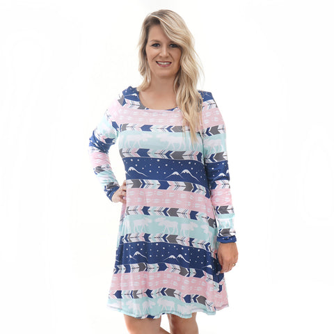 Alaskan Nights Moose Tracks Aubrey Dress