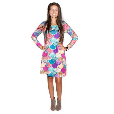 Mandala Scales Aubrey Dress