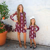 Burgundy Deer Charlee Dress