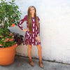 Burgundy Deer Aubrey Dress