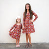 Burgundy Squares Aubrey Dress