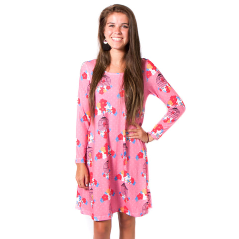 Bird Dot Aubrey Dress
