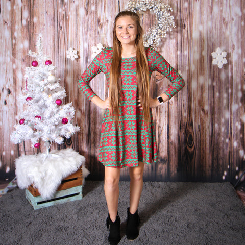 Christmas Nordic Aubrey Dress