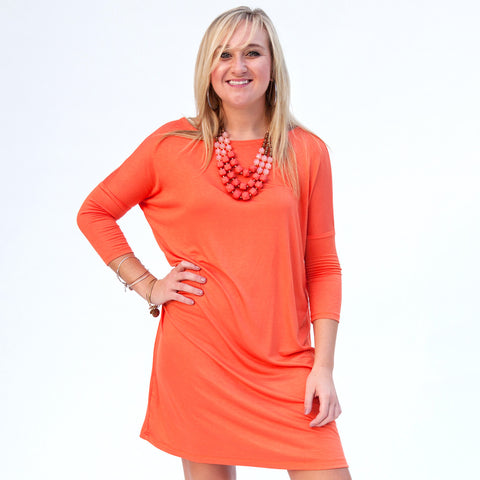 Orange Evie Dress