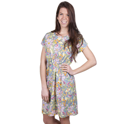 Gray Floral Lauren Dress