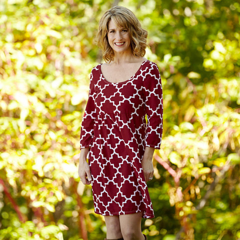 Ruby Lattice Olivia Dress