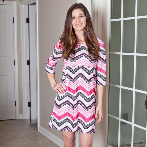 Chevron Olivia Dress