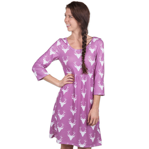 Mauve Deer Olivia Dress