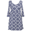 Gray Lattice Olivia Dress