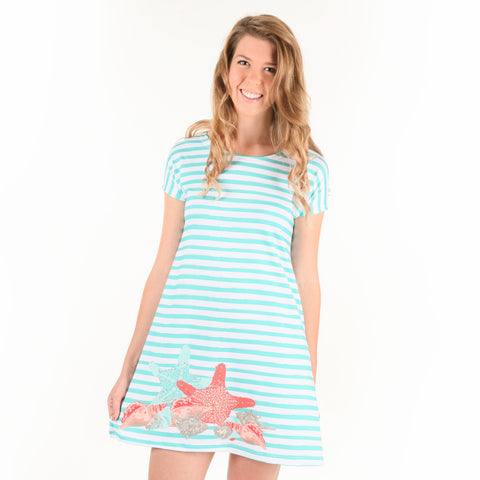 Stripe Sealife Willa Dress