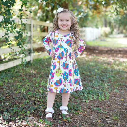 Turkey Tree Toss Empire Dress