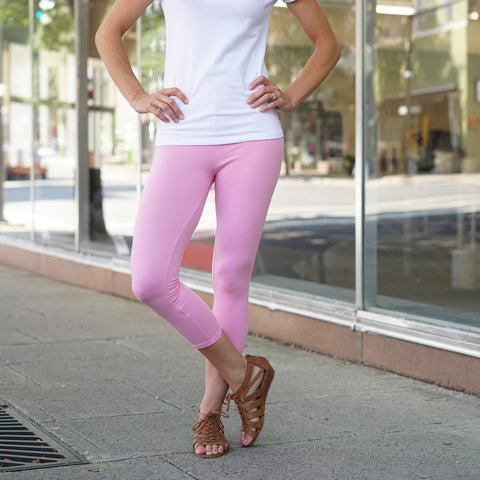 Bubblegum Pink Capri Leggings