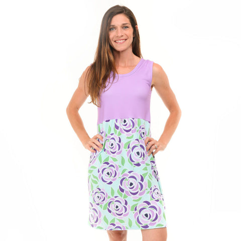 Fancy Blossoms Jade Tank Dress