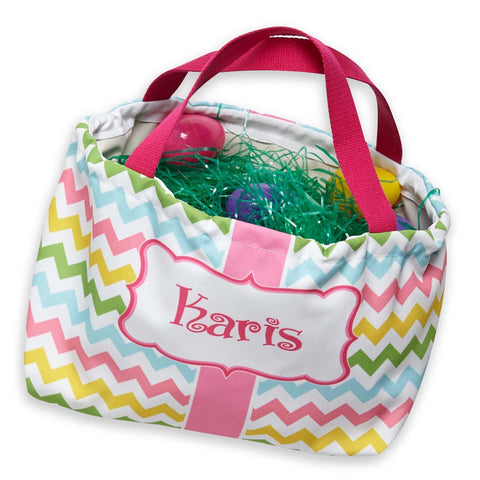 Chevron Name Easter Basket