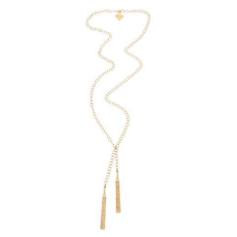 Long Brush Gold Atlas Necklace