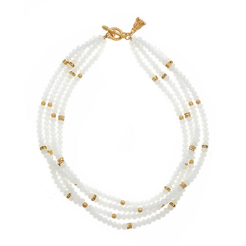White Zoe Necklace