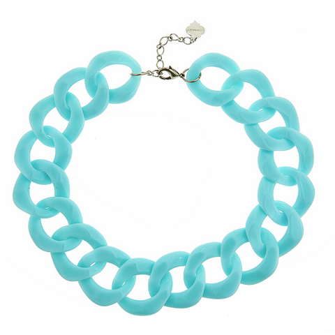 Short Aqua Tizzy Necklace