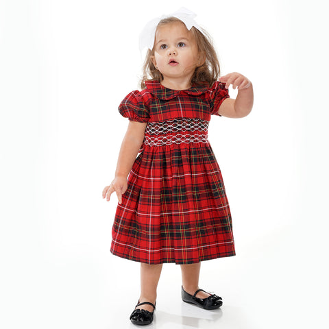 Black Abstract Smocked Bloomer Set