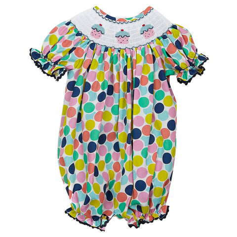 Birthday Cupcake Smock Bubble