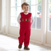Red Corduroy Christmas Tree Smock Longall