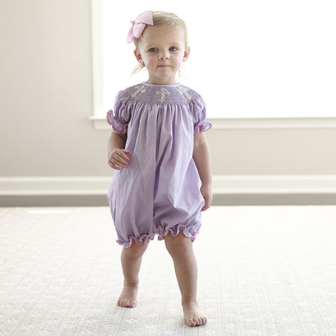 Lavender Pink Cross Smock Bubble